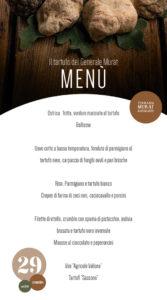 menu tartufo murat 29 novembre